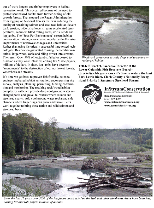 Habitat River Restoration Brief History